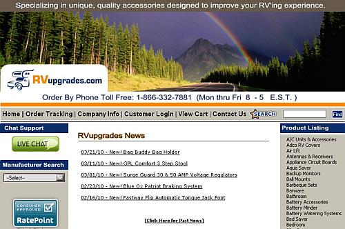Rv upgrade store
